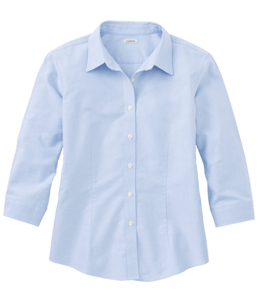 Women's Three-Quarter-Sleeve Classic Oxford Shirt