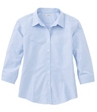 Women's Classic Oxford Cloth Shirt, Three-Quarter Sleeve