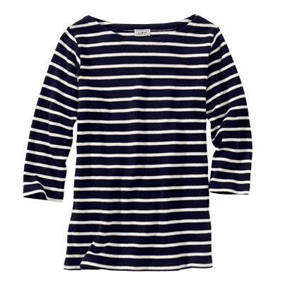 French Sailor's Shirt, Three-Quarter-Sleeve Boatneck