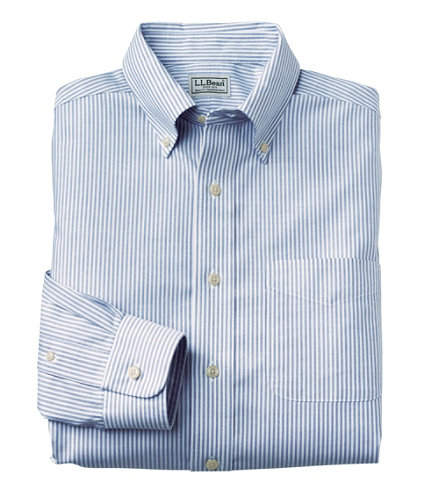 Men 39 s wrinkle free classic oxford cloth shirt slightly for Ll bean wrinkle resistant shirts