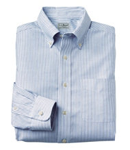 Wrinkle-Resistant Classic Oxford Cloth Shirt, Slightly Fitted University Stripe