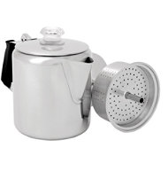 Glacier Stainless-Steel Percolator, Six-Cup