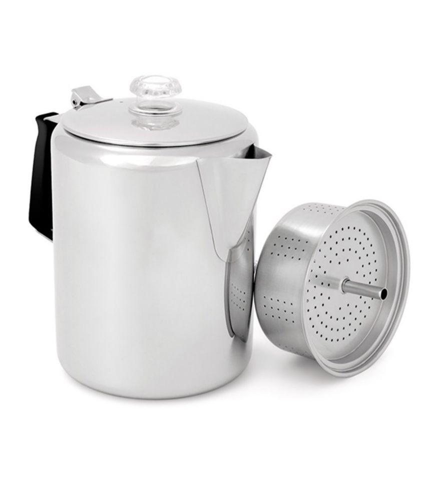 GSI Outdoors Glacier Stainless-Steel Percolator