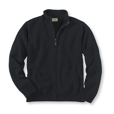 Double L� Cotton Sweater, Full-Zip