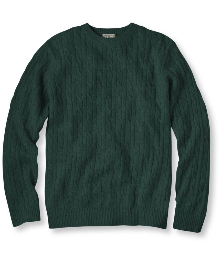 L.L.Bean Cashmere Sweater, Crewneck Cable Knit