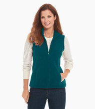 Comfort Fleece Vest, Mock-Neck
