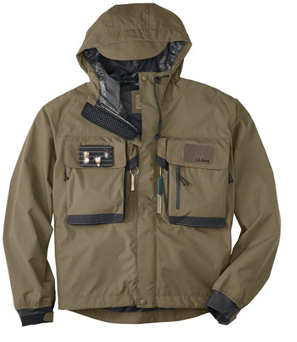 Emerger ii wading jacket fishing jackets at l l bean for Fly fishing rain jacket