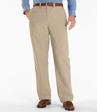 Easy-Care Bush Poplin Pants, Natural Fit Plain Front