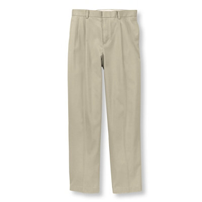Wrinkle-Resistant Dress Chinos, Natural Fit Pleated
