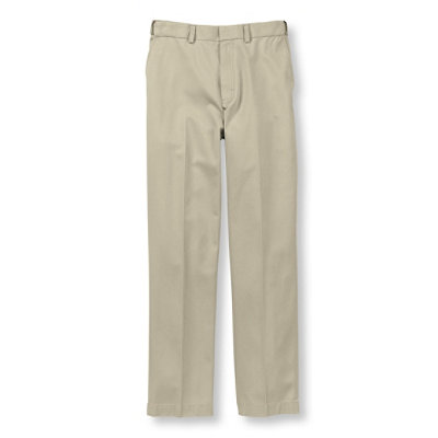 Wrinkle-Resistant Dress Chinos, Natural Fit Hidden Comfort Plain Front