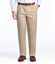 Wrinkle-Resistant Dress Chinos, Natural Fit Hidden Comfort Pleated