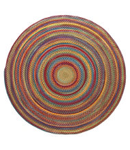 Bean's Braided Wool Rug, 6' x 6' Round