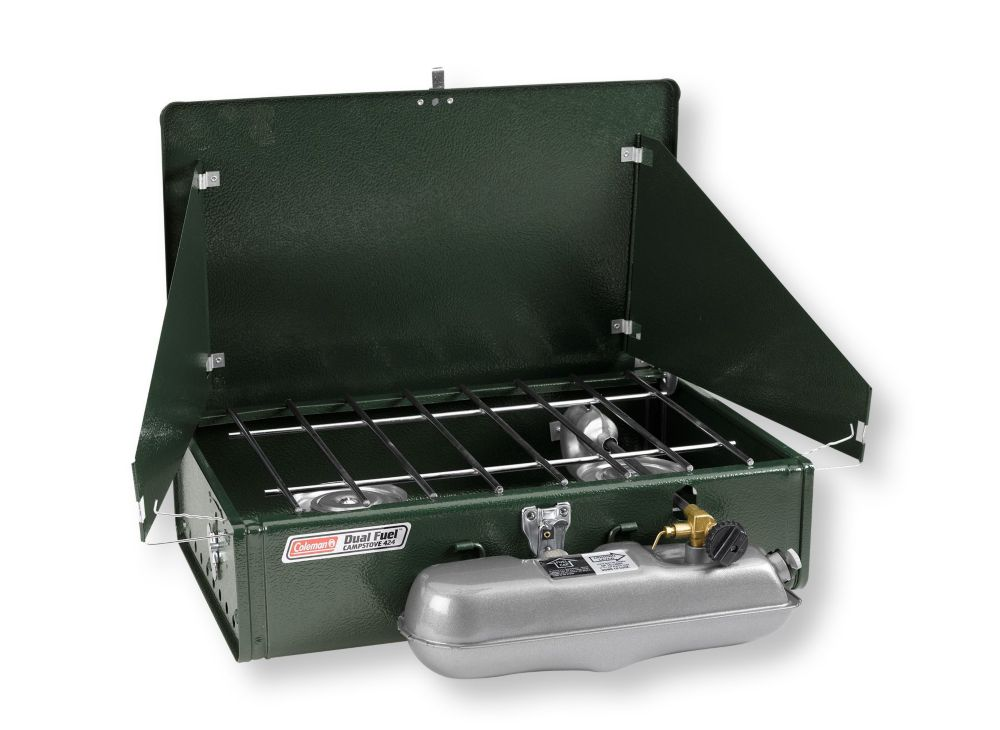 photo: Coleman Dual Fuel 2-Burner Stove