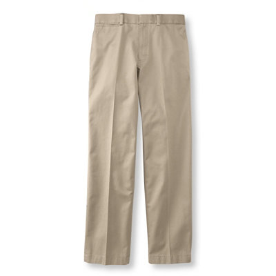 Wrinkle-Resistant Dress Chinos, Standard Fit Plain Front