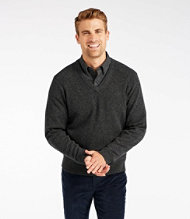Bean's Lambswool Sweater, V-Neck