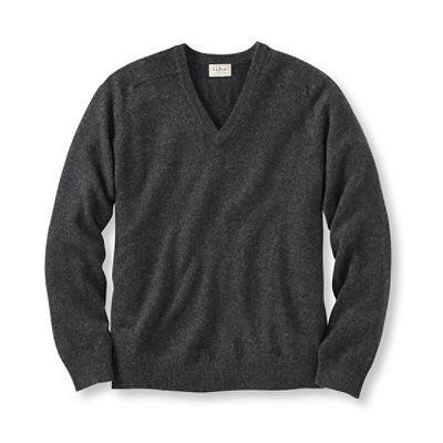 Bean's Lambswool V-Neck Sweater