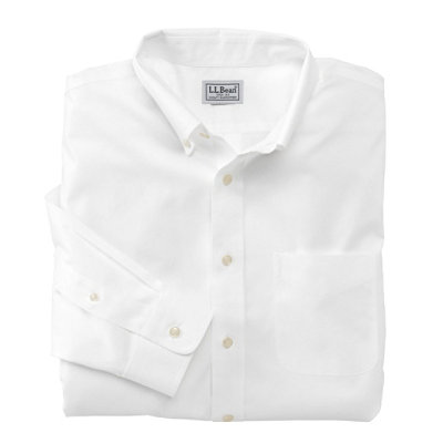 Wrinkle-Resistant Pinpoint Oxford Cloth Shirt, Slightly Fitted