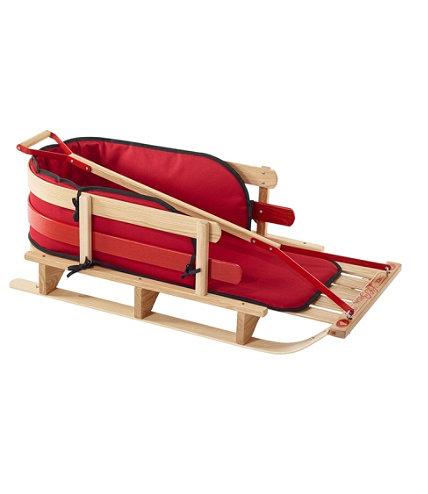 Kids Pull Sled And Cushion Set L L Bean