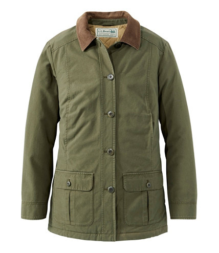 Women s flannel lined adirondack field jacket free shipping at l l