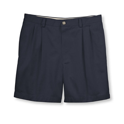 "Double L Chino Shorts, Classic Fit Pleated 6"" Inseam"