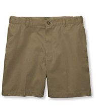 Double L Chino Shorts, Hidden Comfort Waist Plain Front 6