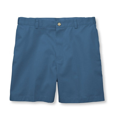 "Double L Chino Shorts, Hidden Comfort Waist Plain Front 6"" Inseam"