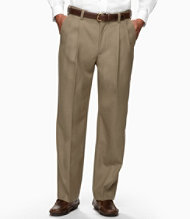 Year-Round Wool Trousers, Natural Fit Hidden Comfort Pleated