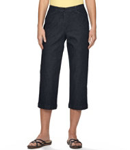 Easy Stretch Pants, Cropped Denim