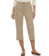 Easy Stretch Pants, Cropped Twill