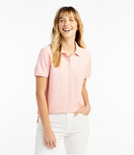 Women's Premium Double L Polo, Relaxed Fit Short-Sleeve
