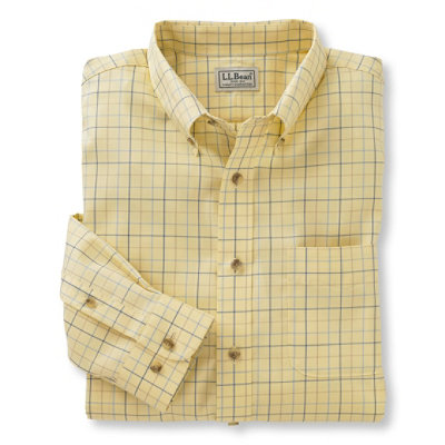 Wrinkle-Resistant Twill Sport Shirt, Traditional Fit Windowpane