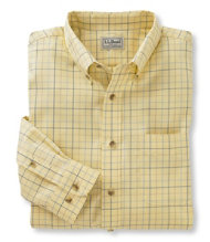 Wrinkle-Resistant Twill Sport Shirt, Windowpane