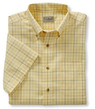 Wrinkle-Resistant Twill Sport Shirt, Traditional Fit Short-Sleeve Windowpane