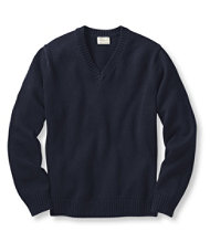 Men's Double L� Cotton Sweater, V-Neck