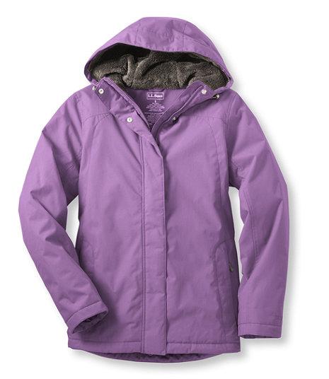 L.L. Bean Womens Winter Warmer Jacket - True Violet