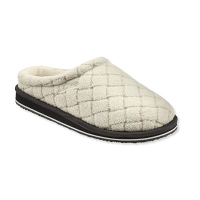 Women's Fleece Slipper Scuffs, Quilted