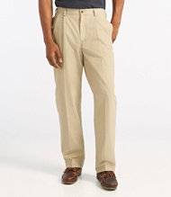 Tropic-Weight Chino Pants, Comfort Waist, Pleated