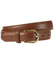 Women's Pebbled Leather Belt
