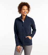 Ultrasoft Sweats, Full-Zip Mock-Neck Jacket