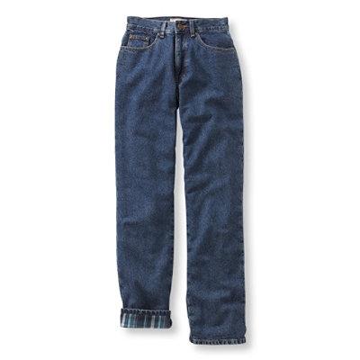 Double L� Jeans, Straight-Leg Flannel-Lined