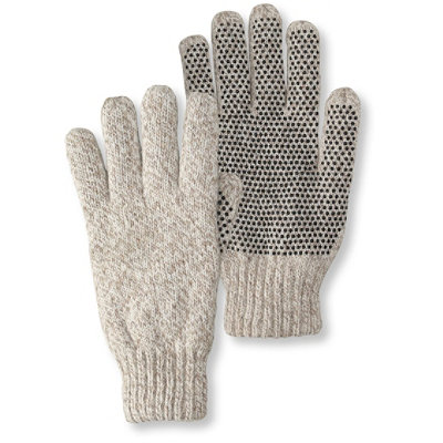 Ragg Wool Gloves with Gripper Dots