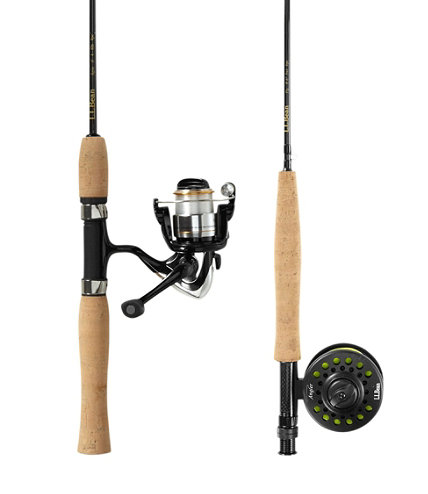Spin fly combo outfit free shipping at l l bean for Fly fishing combo