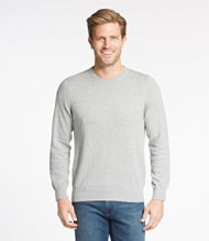Cotton Cashmere Sweater, Crewneck