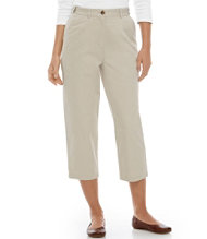 Bayside Twill Pants, Cropped Original Fit Hidden Comfort Waist