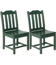 All-Weather Armless Dining Chair, Set of 2