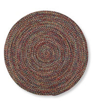 All-Weather Braided Rug, Round Concentric Pattern
