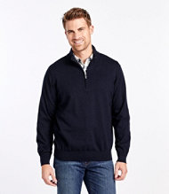 Cotton Cashmere Sweater, Quarter-Zip