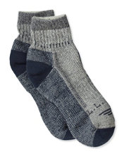Men's Cresta Hiking Socks, Wool-Blend Midweight Quarter Crew 2-Pack