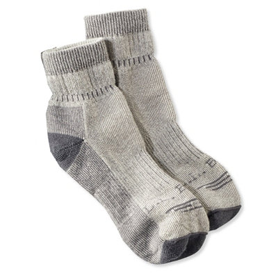 Men's Cresta Hiking Socks, Wool-Blend Midweight Quarter Crew Two-Pack