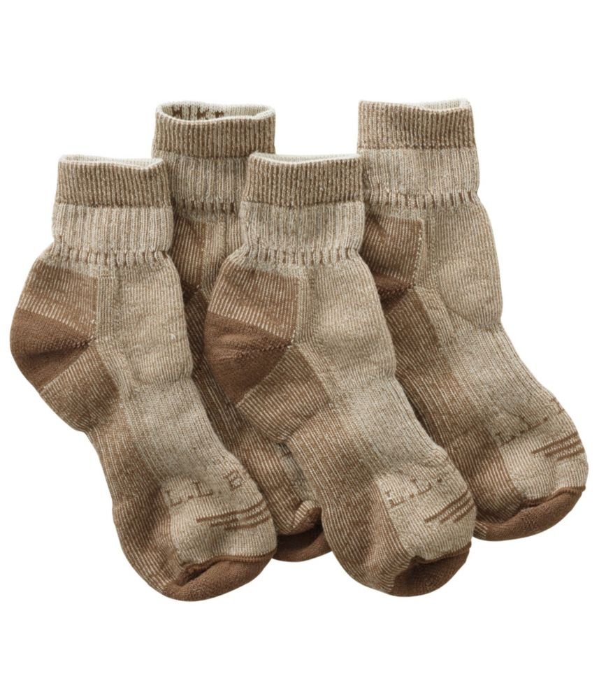 L.L.Bean Cresta Hiking Socks, Wool-Blend Midweight Quarter Crew
